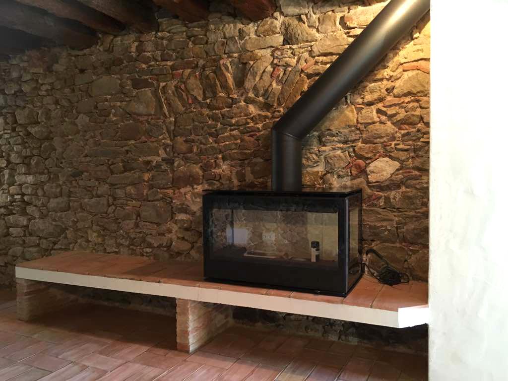 Estufa rectangular vista per 3 bandes
